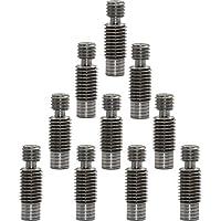 HONG111 10pcs Stainless Steel All-Metal Heatbreak Throat for V6 RepRap 1.75mm 3D Printer Hotend Kits