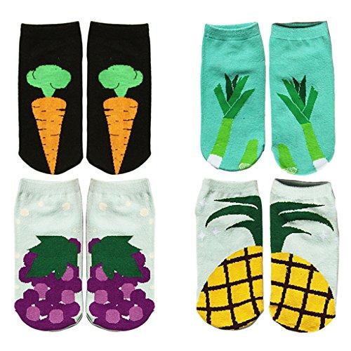 womens-casual-vegetables-print-comfortable-cotton-socks-short-socks-4-pack