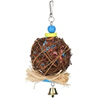 Ratten ball Natural Wood and Ratten Rattan Toys, Bird Chewing Toy, for Small Parrots