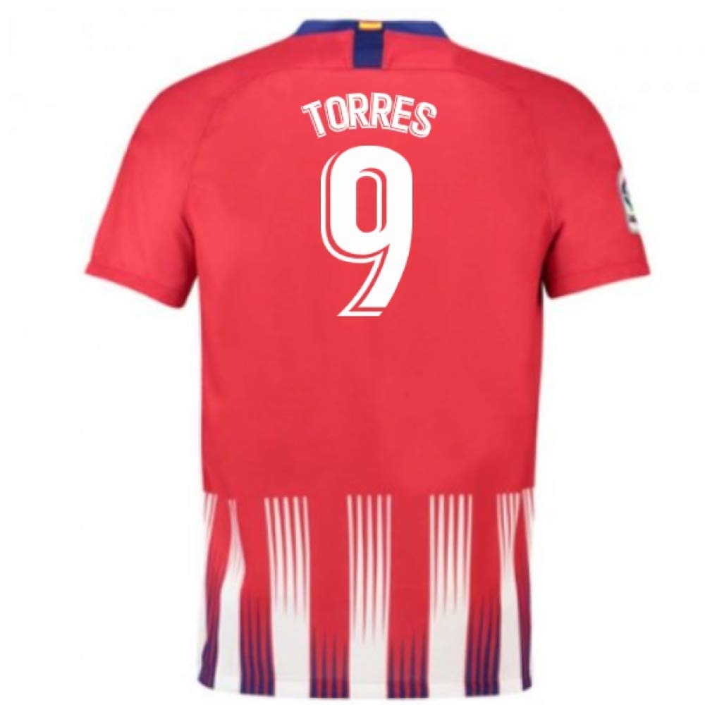2018-2019 Atletico Madrid Home Nike Football Soccer T-Shirt Trikot (Fernando Torres 9)