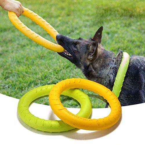 17CM Dog Agility Training Toys EVA Ring Dogs Puppy Chew Toys Teeth Cleaning Bite Resistant Interactive Dogs Toy Pet Supplies