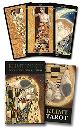 Golden Tarot of Klimt Mini Deck: Pocket Gold Edition: Amazon ...
