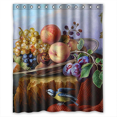 (NASAZONE Christmas Shower Curtains Width X Height / 60 X 72 Inches / W H 150 By 180 Cm(fabric) Nice Choice For Custom Kids Custom Couples Lover. Machine Washable Famous Classic Art Painting Flower)