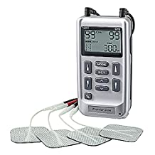 DIGITAL TENS & MUSCLE STIMULATOR COMBINATION UNIT FOR PAIN RELIEF AND MUSCLE TONING: New Generation with WALL ADAPTER and 9 volt Battery
