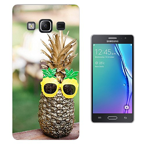 002767 - Tropical Fruit Pineapple Sunglasses Design Samsung Z3 Corporate Edition Fashion Trend CASE Gel Rubber Silicone All Edges Protection Case - Sunglasses Corporate