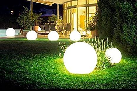Lámpara exterior LED para jardín en forma de bola: Amazon.es: Iluminación