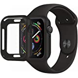 MENEEA for Apple Watch Series 4 Case Protector, Ultra-Thin Anti-Scratch Flexible Case Soft Protective Bumper Cover for New Apple Watch Series 4 40mm, Replacement for iWatch 4 case Black