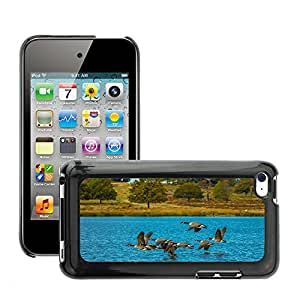 Etui Housse Coque de Protection Cover Rigide pour // M00117333 Aves del viento Ganso Lago Migratorias // Apple ipod Touch 4 4G 4th