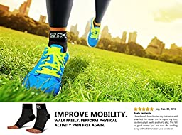 SB SOX Compression Foot Sleeves for Men & Women - BEST Plantar Fasciitis Socks for Plantar Fasciitis Pain Relief, Heel Pain, and Treatment for Everyday Use with Arch Support (Large)