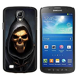 Qstar Arte & diseño plástico duro Fundas Cover Cubre Hard Case Cover para Samsung Galaxy S4 Active i9295 (Cráneo Parca)