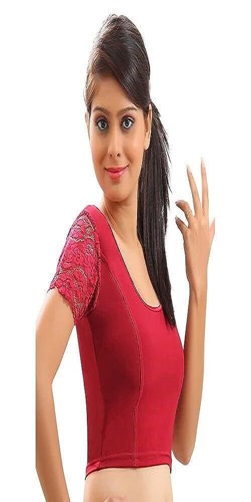 Blusa sari confeccionada en algodón de dorada Blusa sari con sari El mejor complemento para Saree Choli Crop de ETHNIC EMPORIUM (L, XL, XXL) lycra (black): ...