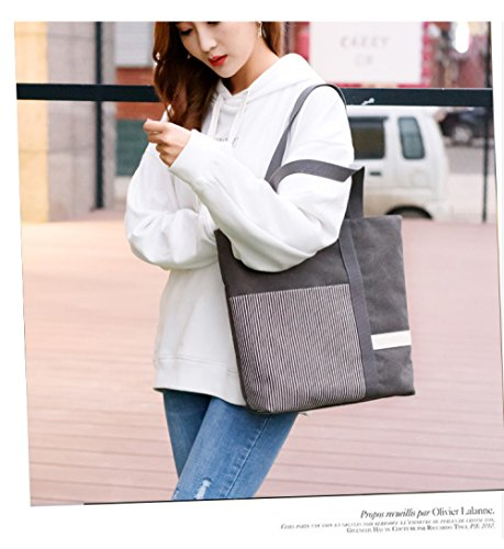 Backpack Bag Bag Tote Beige Reusable Bag Bag Canvas Tutorial Shopping FLHT Women's Large Student Bag Bag Shoulder q1OFqEwBU
