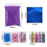 Holicolor 72pcs Slime Making Supplies Kit Slime Add Accessories Set Include Foam Balls, Fishbowl Beads, Glitter Sequins Accessories, Shells, Mermaid Slime Charms for Slime Party or Mermaid Party