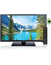 AXESS TVD1805-24 24-Inch LED HDTV, Features AC/DC Technology, VGA/HDMI/SD/USB Inputs, Built-In DVD Player, Full Function Remote