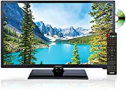 AXESS TVD1805-24 24-Inch LED HDTV, Features AC/DC Technology, VGA/HDMI/SD/USB Inputs, Built-In DVD Player, Full Function Rem