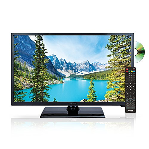 AXESS TVD1805-24 24-Inch LED HDTV, Features VGA/HDMI/SD/USB Inputs, Built-In DVD Player, Full Function Remote