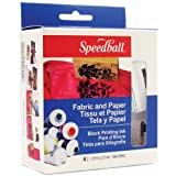 Speedball Art Products Block Printing Ink, 1.25-Ounce, Fabric and Paper, 6 Per Package