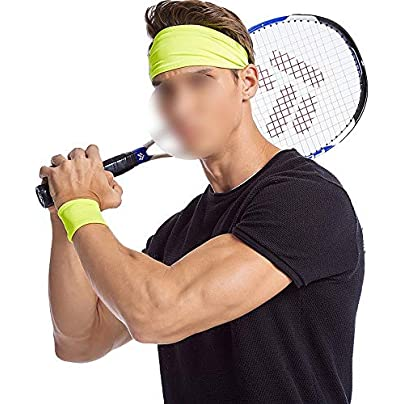 Zebuakuaede Sports hair band unisex sweat-absorbent headband headband harness wristband Color Estimated Price £17.33 -