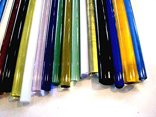 Devardi Glass Boro Rods, COE 33, Mixed Colors, 3 lbs borosilicate solid rods by Devardi Glass