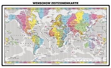 zeitzonen karte Amazon.de: Zeitzonenkarte   Wenschow   Galerie Bild (im  zeitzonen karte