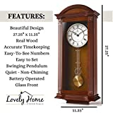 Pendulum Wall Clock, Silent Decorative Wood Clock
