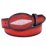 Original Faded Red Single Pearl StingRay Skin Western Style Belt