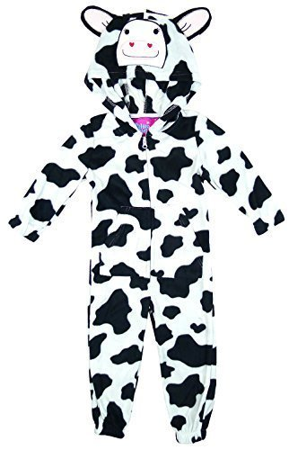 15b9085ff Niña Dálmata Vaca Leopardo Cara De Animal Pijama Enterizo con orejas tallas  desde 4 a 13