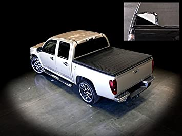 Amazon Com Velocity Concepts Snap On Tonneau Cover Black Compatible With Toyota Tacoma Double Crew Cab 05 15 5 Ft 60 Short Bed Automotive