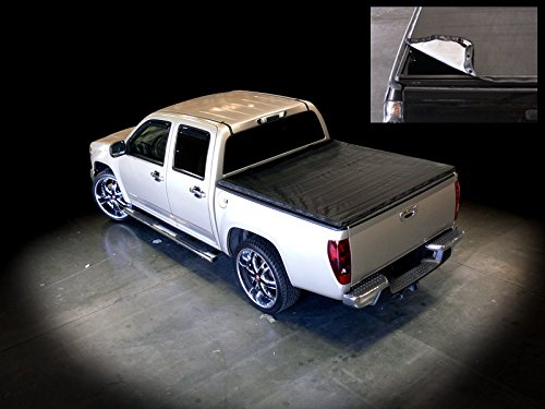 Velocity Concepts Black Snap-On Truck Bed Tonneau Cover 1994-2003 for Chevy S10 | GMC S15/Sonoma | 96-00 Isuzu Hombre Regular/Extended Cab Fleetside Pickup Truck | 6 ft Cab Bed