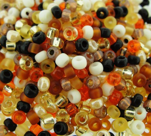 Miyuki Round Seed Beads Size 8/0 22g Wheat Berry Mix