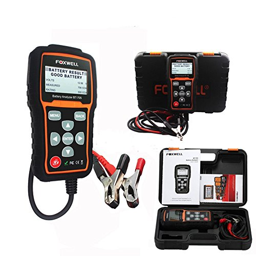 Autool FOXWELL BT-705 Battery System Tester for 6V & 12V Regular Flooded, AGM Flat Plate, AGM Spiral, Gel Batteries and 12V & 24V Starting and Charging - Tester System Starting