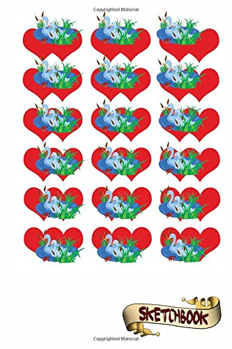 Read Online Sketchbook: Ducks and red Hearts Journal, Drawing sketch Pad and blank Notebook gift for school kids, boys and girls, Children Animals Doodles pdf epub