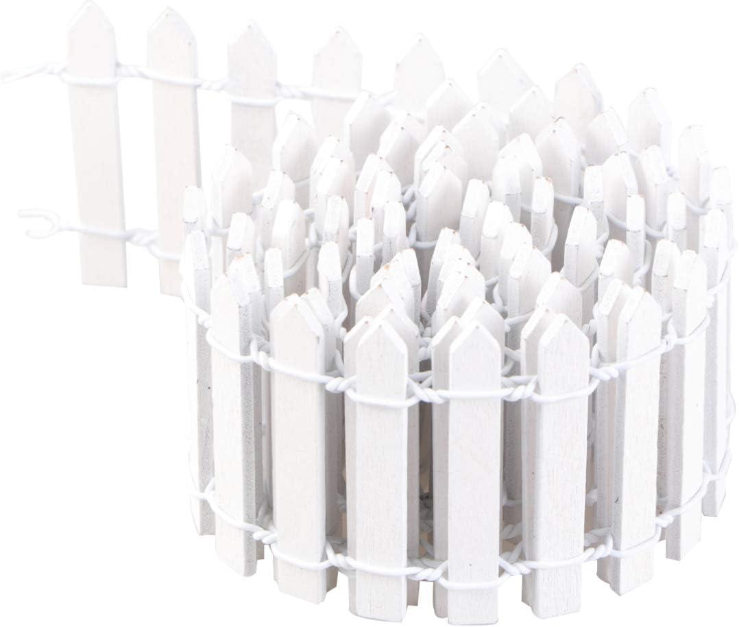 Yardwe 100 Cm X 5 Cm Bois Miniature Cl/ôture Mini Piquet Cl/ôture Ornement Bricolage Cl/ôture Fronti/ère Jouet Micro Bonsa/ï F/ée Jardin D/écoration