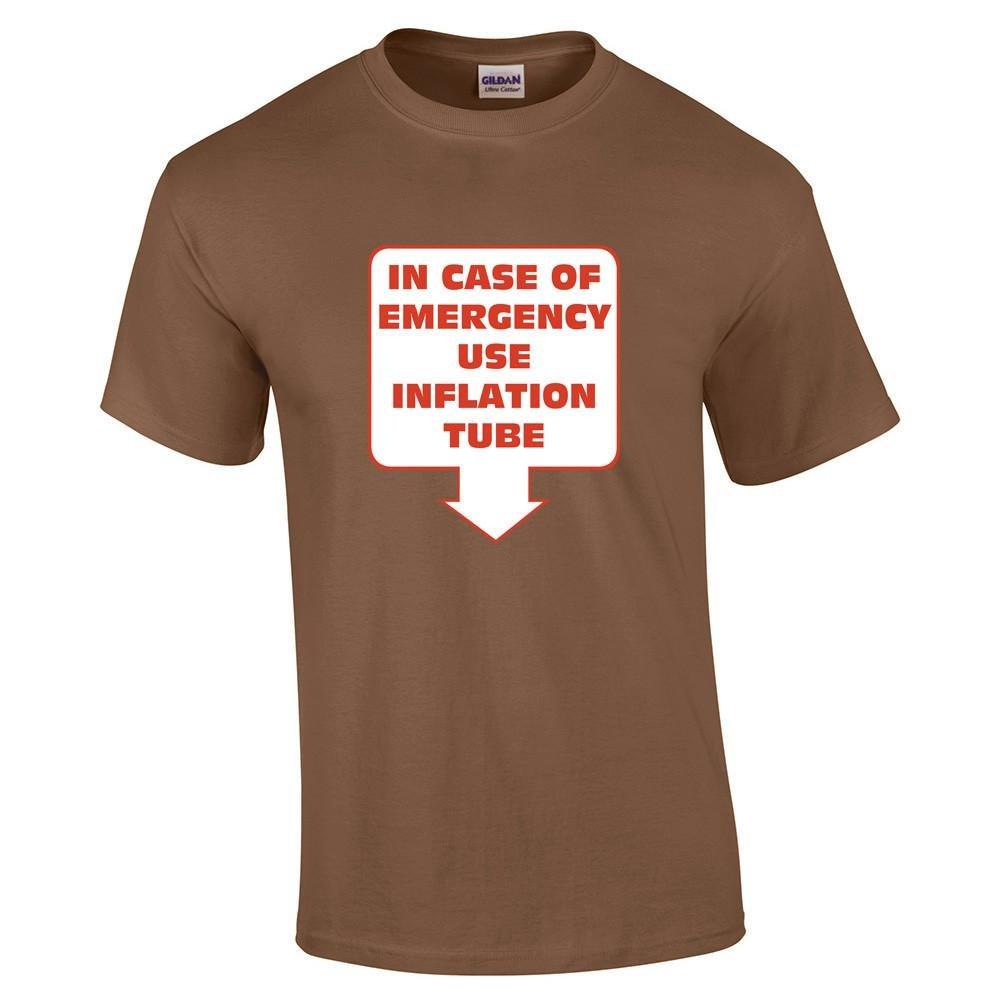 In Case of Emergency Use Inflation Tube Ladies Hoodie - Brown - XX-Large