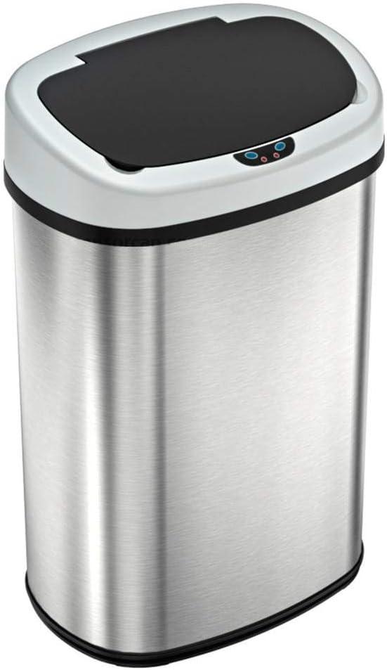 T-LoVendo 1 Cubo de Basura Automatico con Sensor de Movimiento 50 Litros Acero Inox