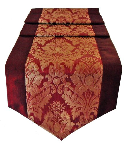 Table Runner Thai Silk & Cotton - Plum Color