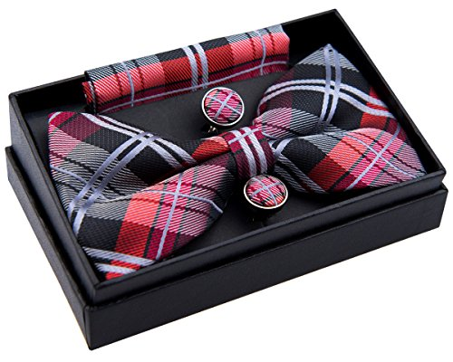 Elegant Tartan Pre tied Pocket Cufflinks product image