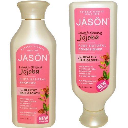 Jason Long & Strong Jojoba Pure Natural Shampoo and Conditioner Duo - 16 oz ()