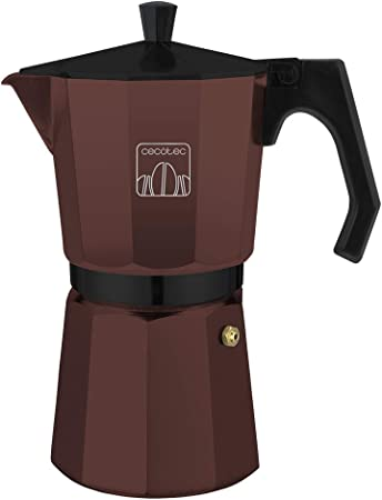 Cecotec Cafetera Moka Cumbia Mimoka 900 Garnet. Cafetera Italiana, Aluminio Fundido, Apta para Todas Las Superficies térmicas, 9 Tazas de café, Color Garnet: Amazon.es: Hogar