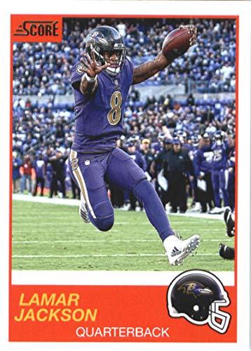 2019 Score #83 Lamar Jackson Ravens NFL Football Card NM-MT