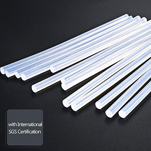 TimmyHouse Glue Gun Stick Hot Melt Mini 0.43'' x 11'' Clear White for DIY Craft Projects 200 Pcs by TimmyHouse (Image #1)