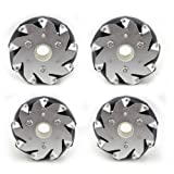 Nexus Robot - 100mm Mecanum Wheel Set (2x Left, 2x Right)