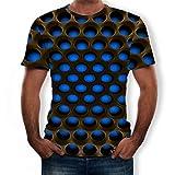 Men Spring Summer Short Sleeve T Shirt Tops 3D Print O-Neck Blouse