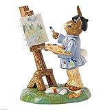 "Royal Doulton Figurine Budding Artist Bunnykins, 4.75"""
