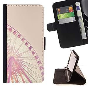 King Case - FOR LG OPTIMUS L90 - In doing we learn - Prima caja de la PU billetera de cuero con ranuras para tarjetas, efectivo Compartimiento desmontable y correa para la mu?eca