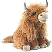 Folkmanis Highland Cow Hand Puppet, Brown