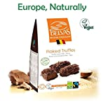 Vegan Chocolate Gourmet Truffles – 72% Cacao, Gluten free, Fair trade, Bio Organic Hand crafted Superb Belgian chocolate flaked truffles – Award winning vegan candy Delights. 3.5oz.Perfect Vegan Gift.