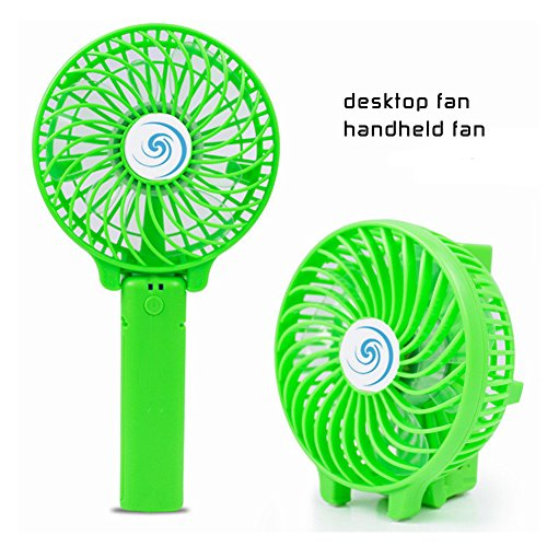 Price comparison product image Miyarooma Handheld Mini Fan Portable Foldable Personal Fan with USB Rechargeable Battery Desktop Fan for Office Room Outdoor Household Traveling