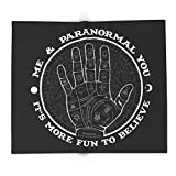 Society6 Me & Paranormal You - James Roper Design - Palmistry B&W (white Lettering) 88'' x 104'' Blanket