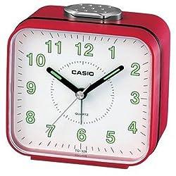 Casio #TQ328-4 Table Top Travelers Red Alarm Clock